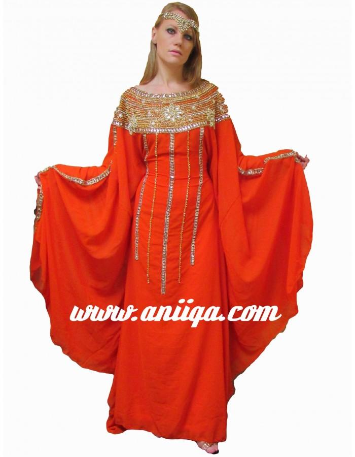 Caftan dubai robe orientale de mariage arabe for Boutique de location de robe de mariage dubai