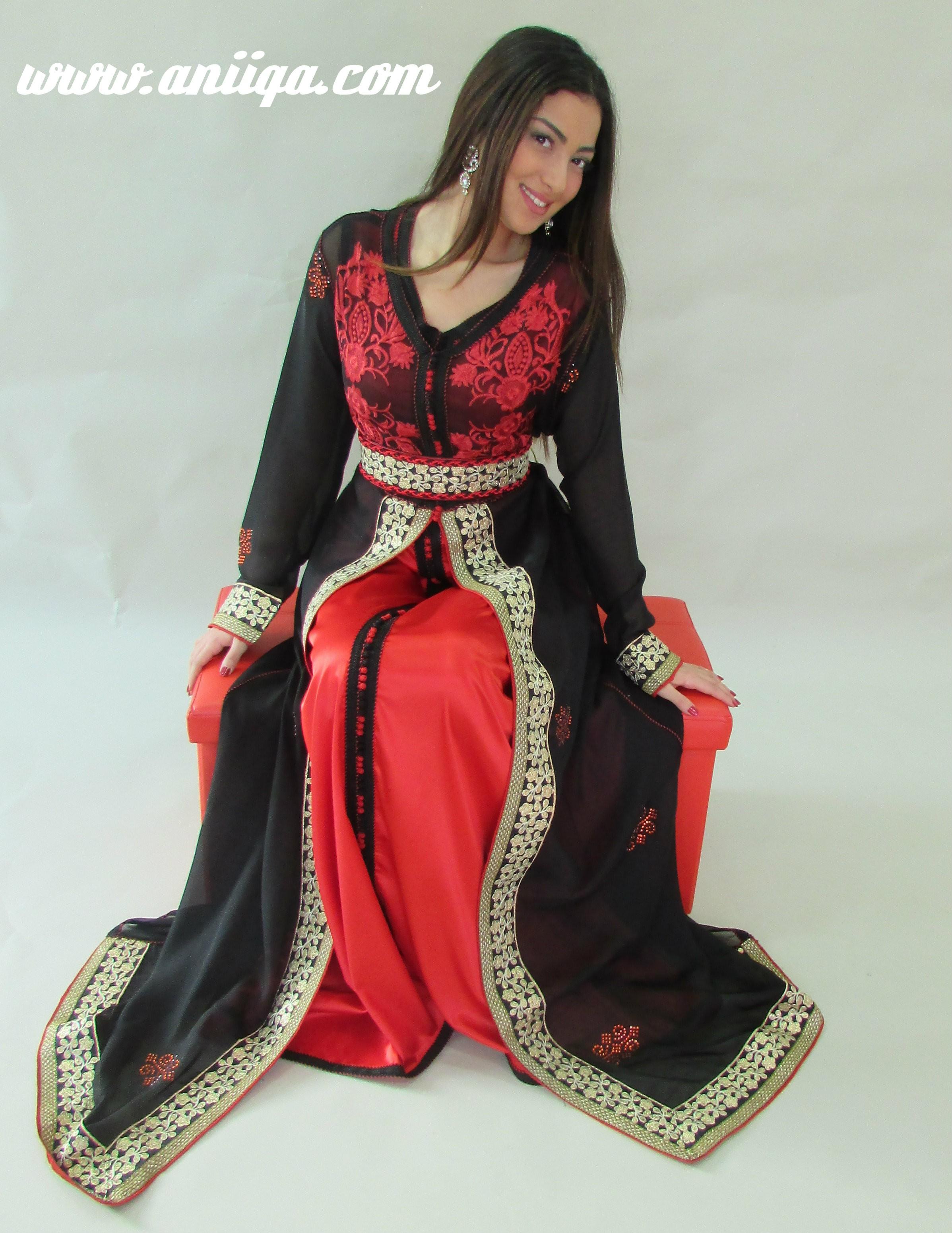 Robe marocaine rouge pas cher