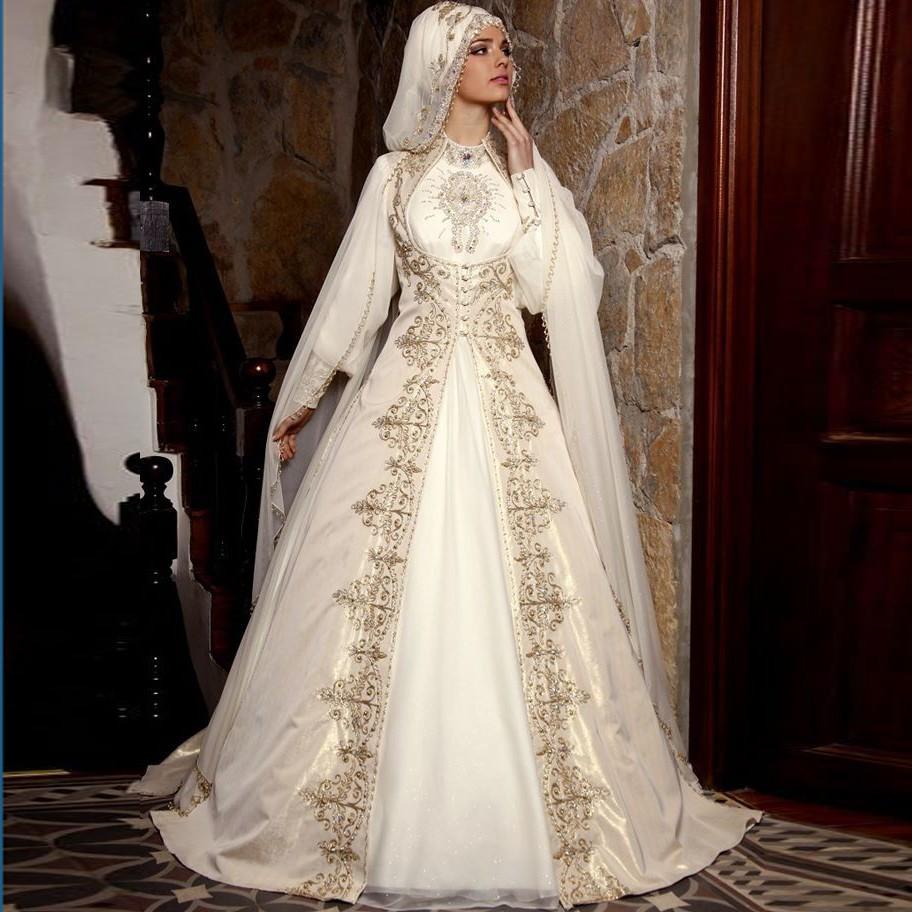 robe de mariée pour femme voilée,avec hijab
