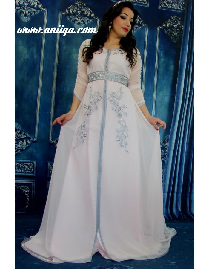 c9536c58078bef caftan 2018 2019 , caftan robe , robe marocaine 2018 2019, takchita simple.  Loading zoom