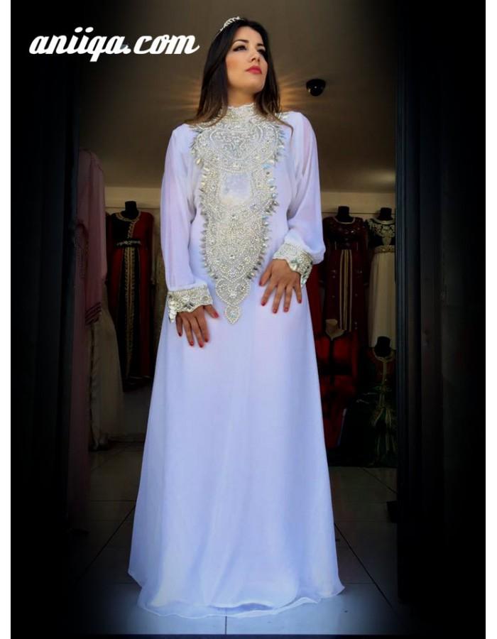 Robe Orientale Mariage Blanche Robe Arabe Mariage Caftan