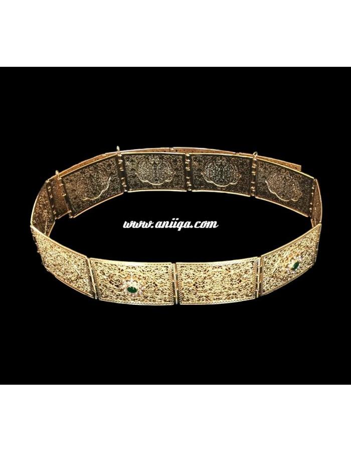 Ceinture marocaine en métal strass argent. Loading zoom 0ac089aa26b