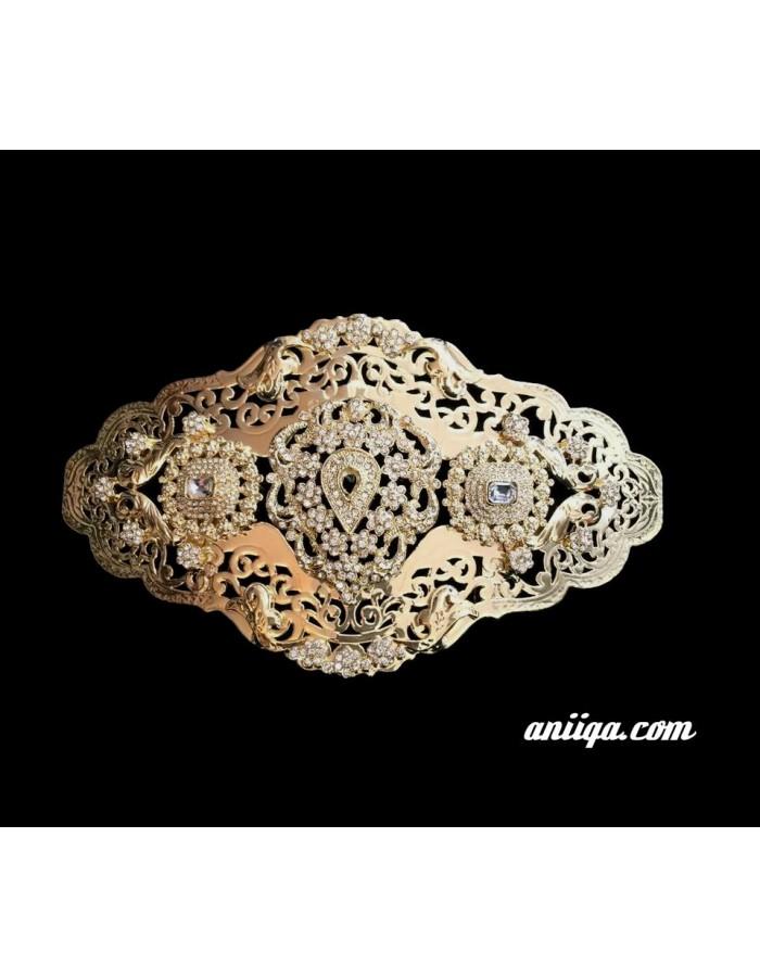 7e21cf540808 Broche dorée pour ceinture caftan ou takchita mariage - aniiqa.com