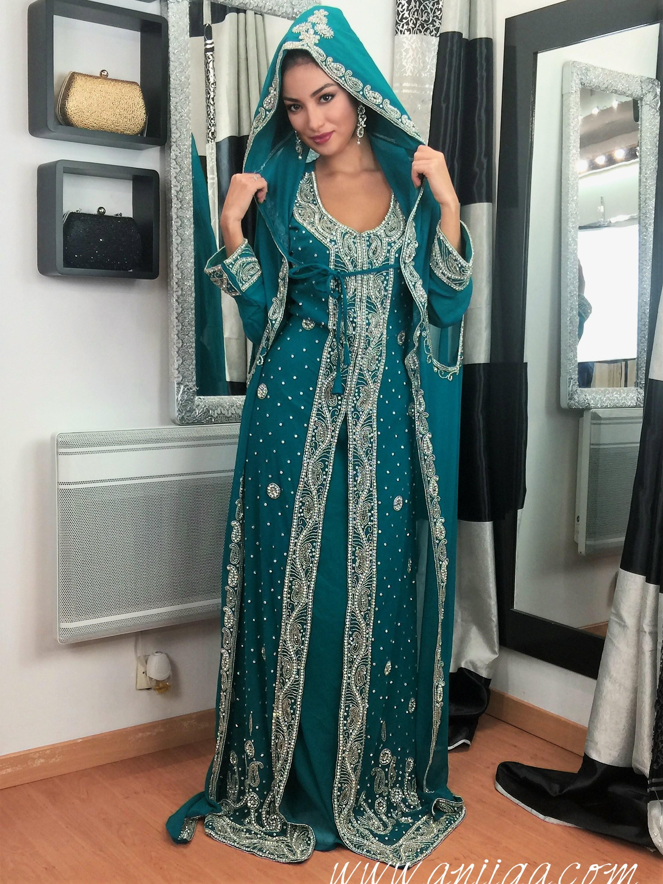 Robe de soiree style indienne