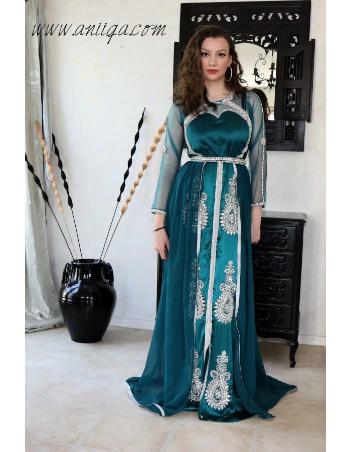 Robe De Soiree Orientale Robe Arabe Caftan Moderne Invitee